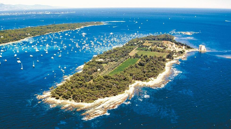 The L�rins Islands on the French Riviera
